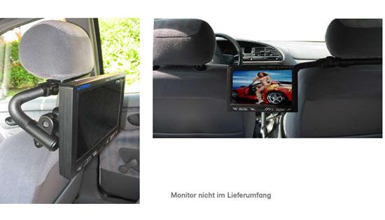 auto monitor halterung monitorhalterung kopfst tze ebay. Black Bedroom Furniture Sets. Home Design Ideas