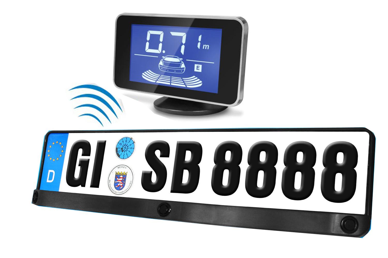 Einparkhilfe Kennzeichen Nummernschild Halterung Rückfahrwarner Funk ...